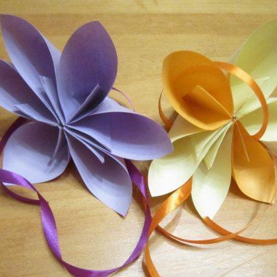 Lavoretti per la primavera: come fare i fiori di carta