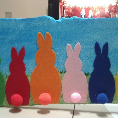 Lavoretto di primavera: coniglietti colorati