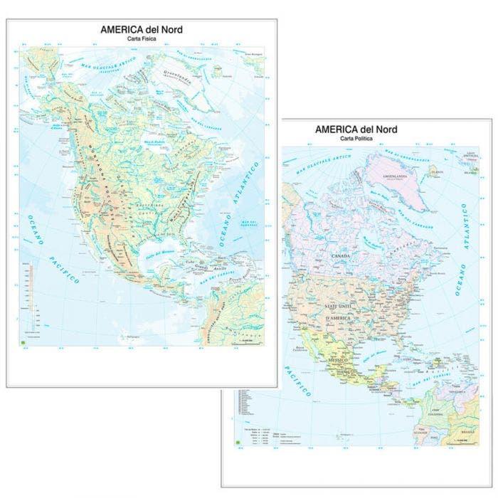 Cartina Fisica Del Nord America.Carta Geografica Nord America