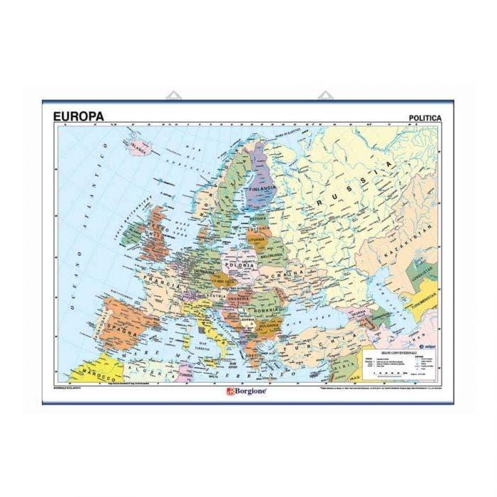Cartina Giografica.Carta Geografica Europa 10 Pezzi