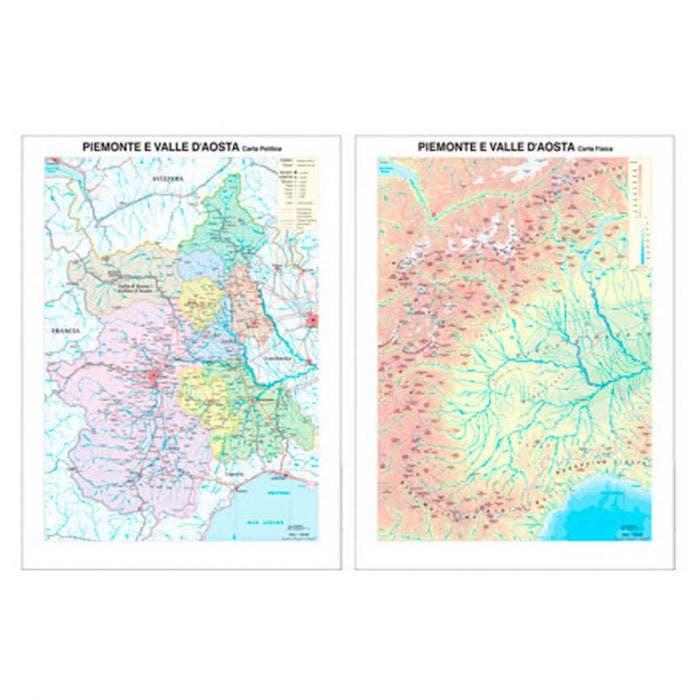 Cartina Geografica Piemonte Valle D Aosta.Carta Geografica Piemonte E Valle D Aosta