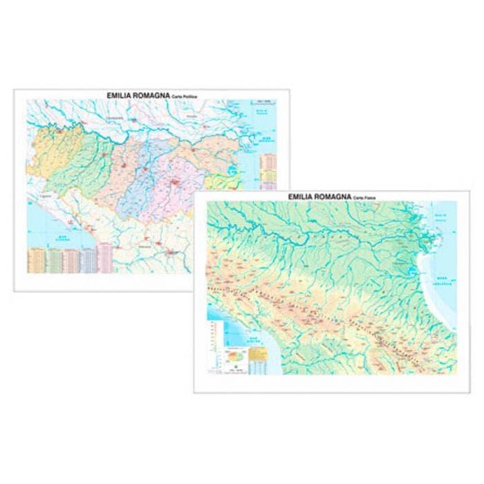 Cartina Topografica Emilia Romagna.Carta Geografica Emilia Romagna
