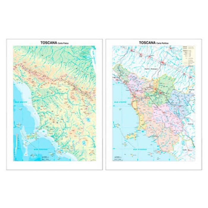 Cartina Geografica Della Toscana.Carta Geografica Toscana