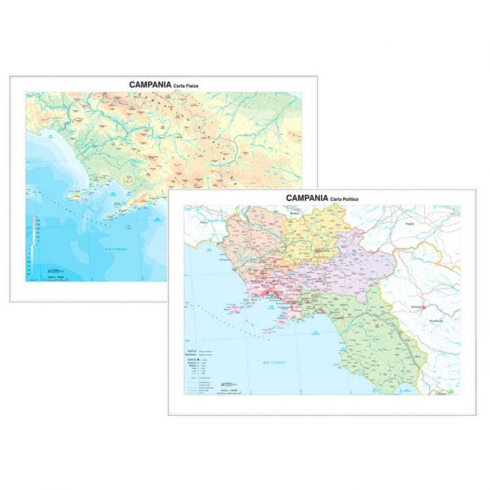 Cartina Geografica Politica Campania.Carta Geografica Campania