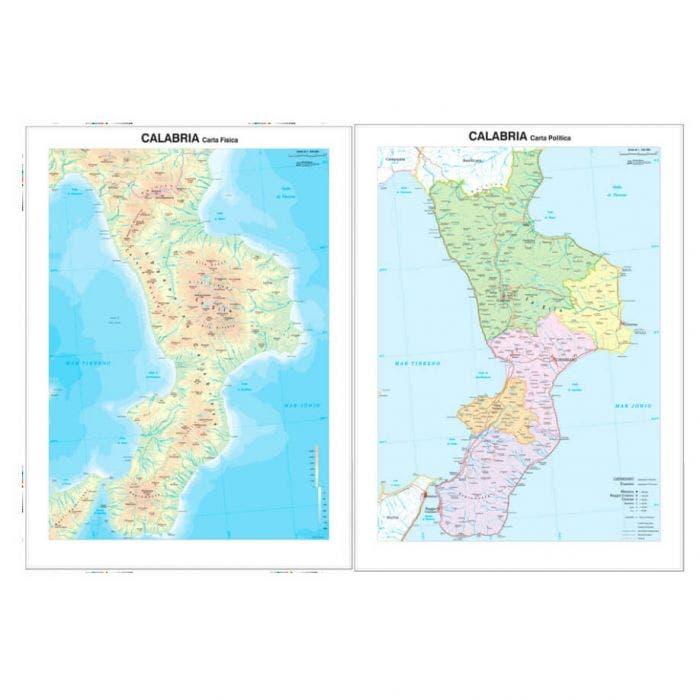 Cartina Geografica Calabria.Carta Geografica Calabria