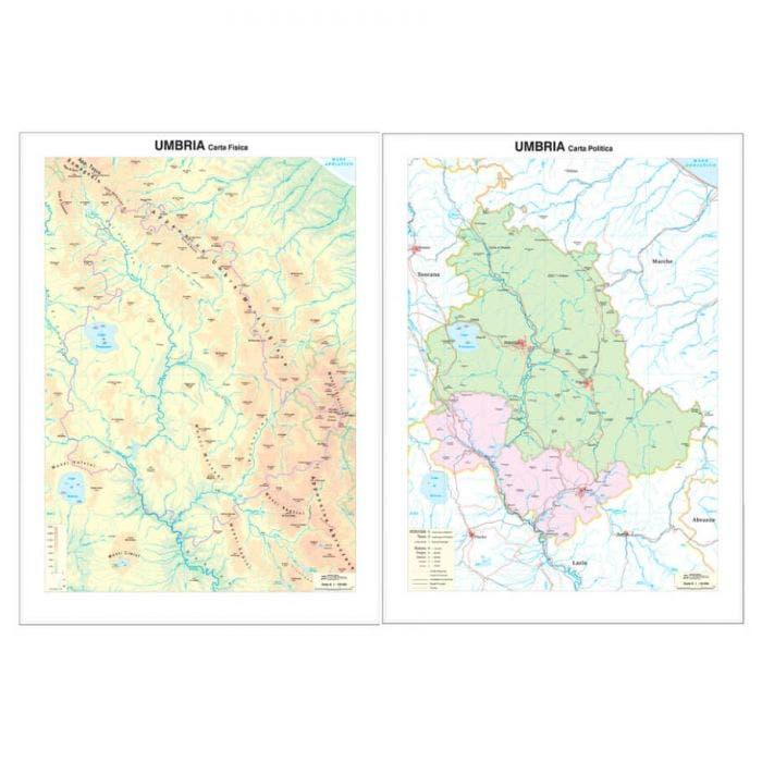 Umbria Cartina Geografica Fisica.Carta Geografica Umbria